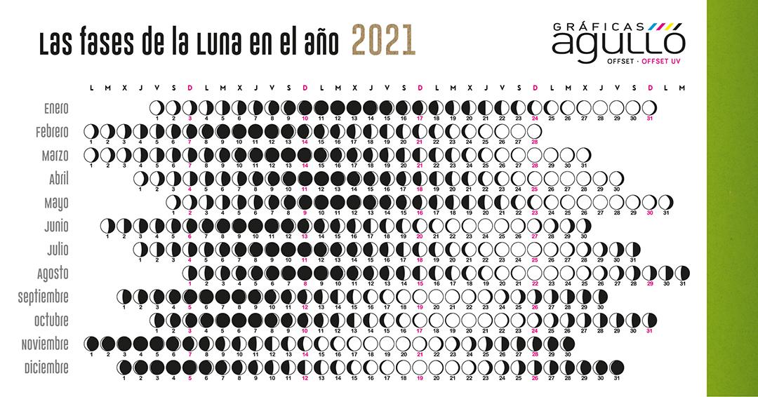 Imagen Calendario Lunar Gráficas Agulló