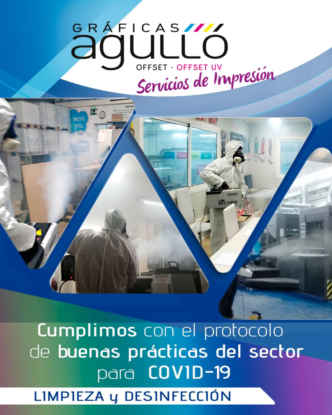 Imagen Desinfección Gráficas Agulló
