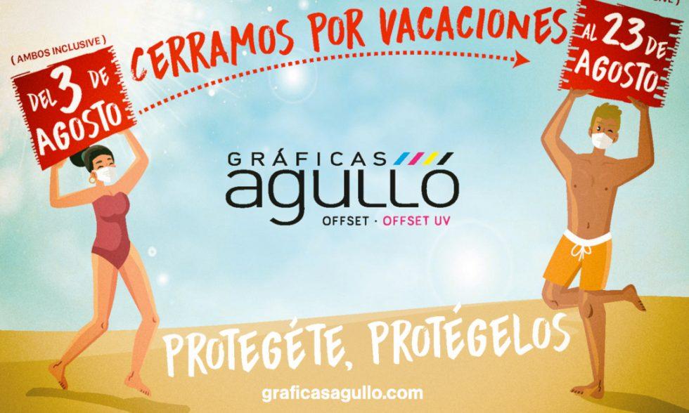 Banner Vacaciones en Gráficas Agullóp